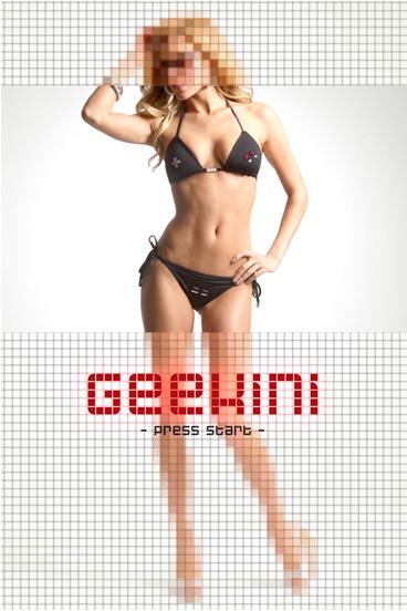 Bikini para chicas Geeks y Gamers