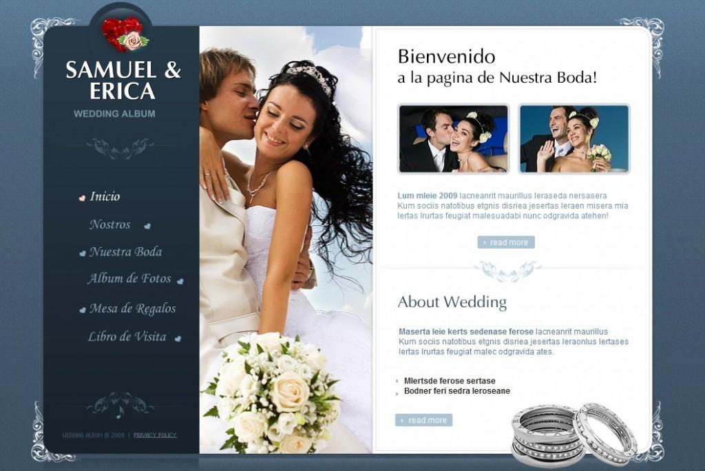 Ejemplo de Una Invitación Web de una Boda