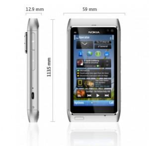 Nokia N8: Dimensiones