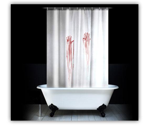 Cortinas De Baño Geek:cortina de baño con sangre