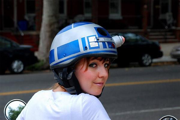 Casco para motocicleta Geek r2d2