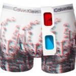 Ropa interior de Calvin Klein con estampados 3D