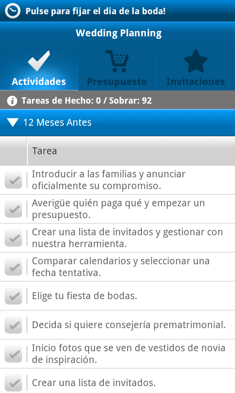 check list boda para android