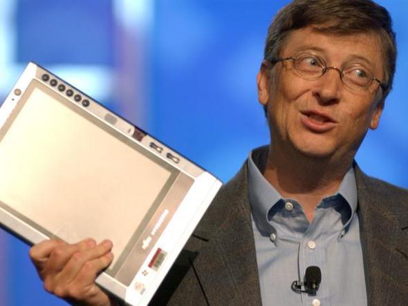 Bill Gates rechazo la idea de una tablet en 1998