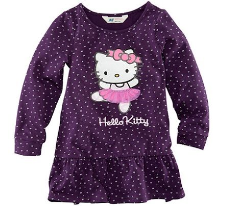 Vestido de Hello Kitty Morado