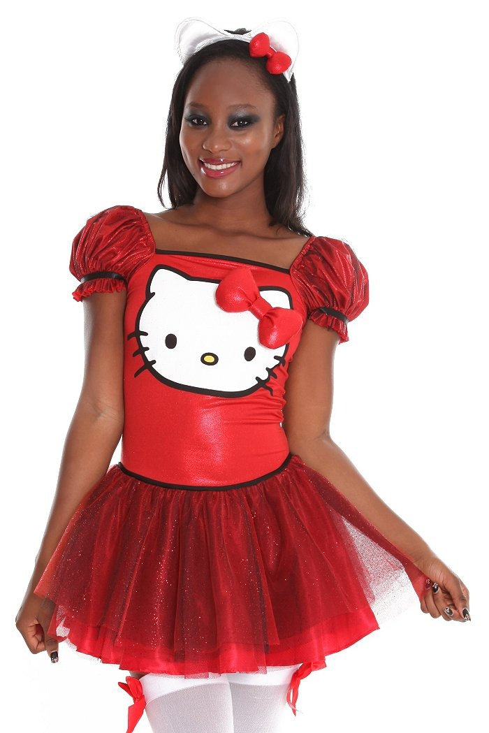 Vestido de Hello Kitty rojo sexy
