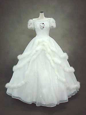 Vestido de novia de hello kitty blanco
