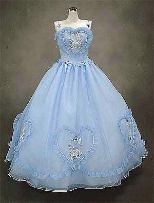 vestido de novia de hello kitty azul
