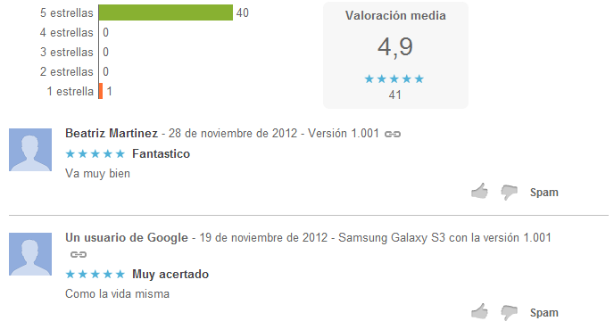calificaciones horoscopo android