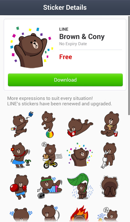 line stickers pack