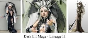 Cosplay Lineage II Elfo Oscuro