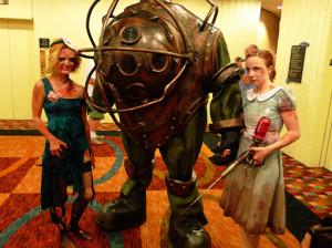 Disfraz EPICO de Big Daddy, Little Sister y la Splicer de Bioshock