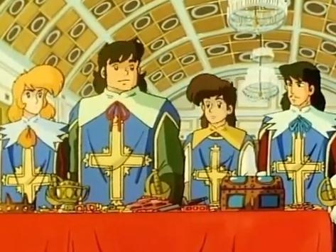 dartagnan y los 3 mosqueteros anime