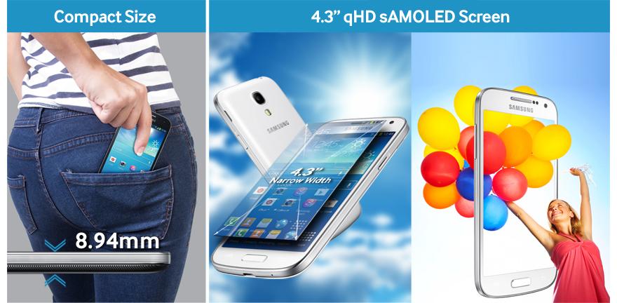Samsung Galaxy S4 Mini Tamaño
