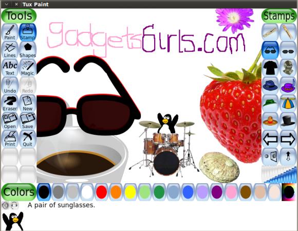 Tux Paint y GadgetsGirls.com