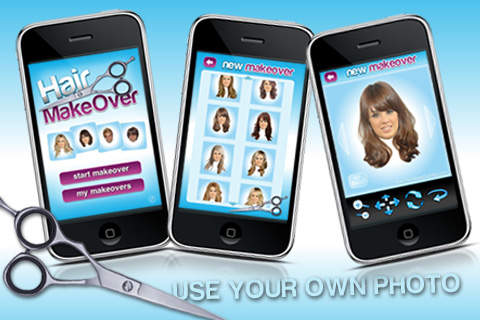 Hair MakeOver aplicacion para iPhone