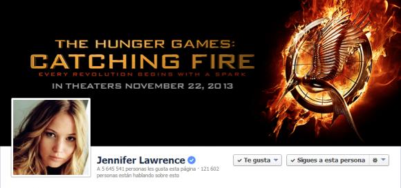 Cover de Facebook de la actriz Jennifer Lawrence