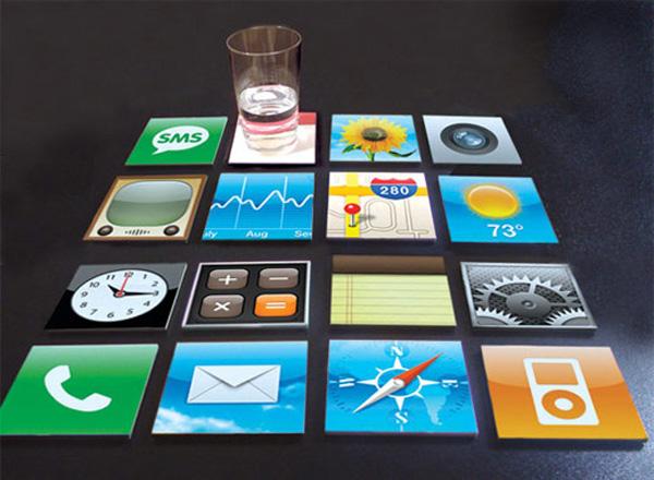 Porta vasos geek de iphone