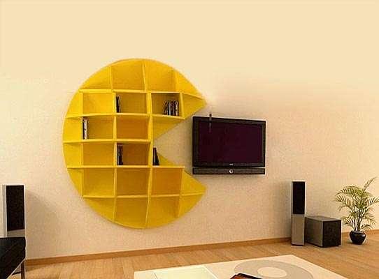 Repisa de Pac Man para una sala geek