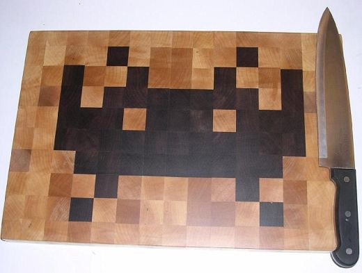 Tabla para picar de los Space Invaders