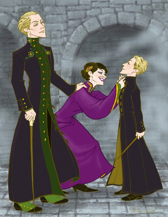 Draco Malfoy y Astoria Greengrass hijos