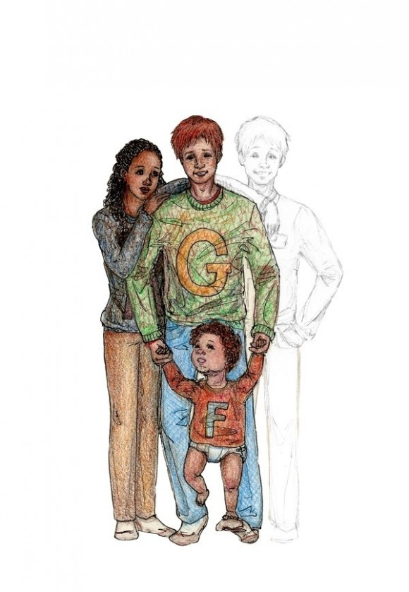George Weasley y Angelina Johnson, hijos