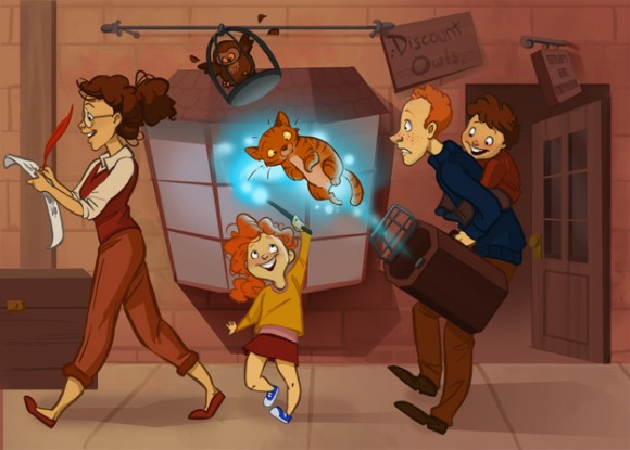 Hermione y Ron - Hugo y Rose