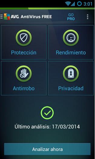 AVG antivirus tablet ceulares