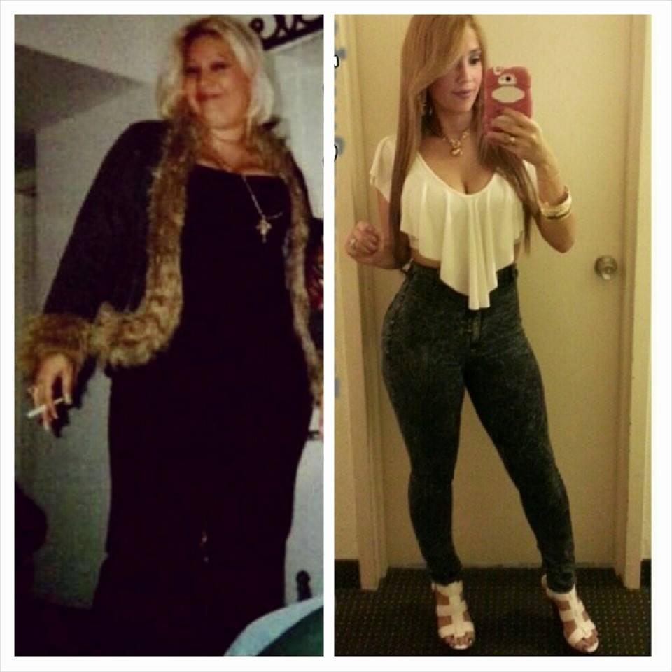 Fula antes y despues de bajar de peso