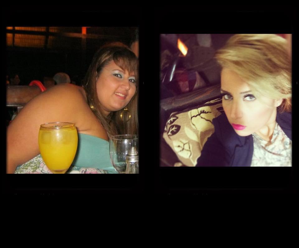 Maria Abou ANTES y DESPUES de bajar de peso