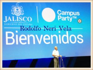 Rodolfo Neri Vela en el Campus Party 2015