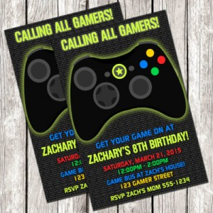 Gamer-Invitation-Video-Game-Birthday-Party-DIY-Printable-400x400