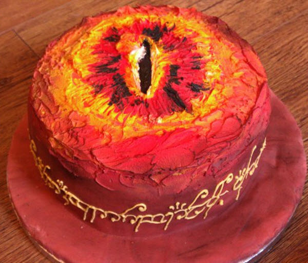 Un terrorífico pastel del Señor de los Anillos.