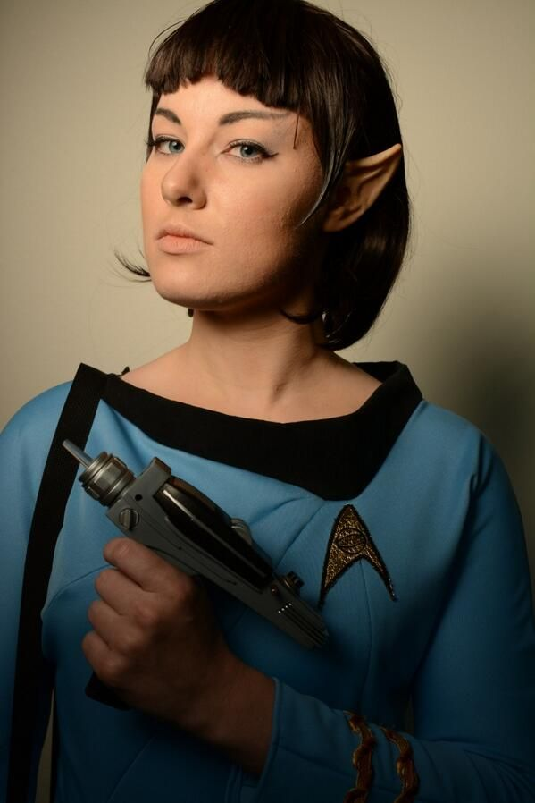 Spocky en su version femenina de Star Trek.