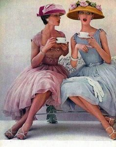tea ladies drinking tea